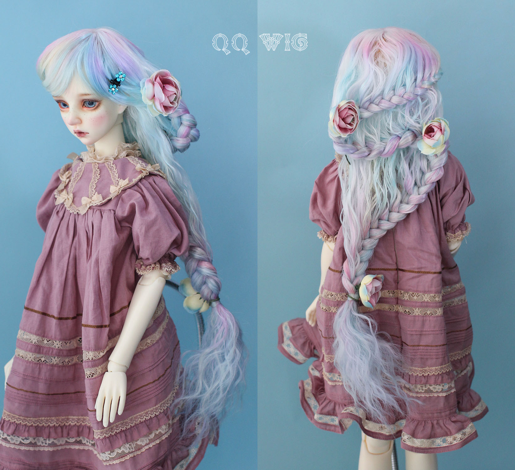 【Dolly Planet】BJD heat-resistance Wig Hand dyeing *Blossom*