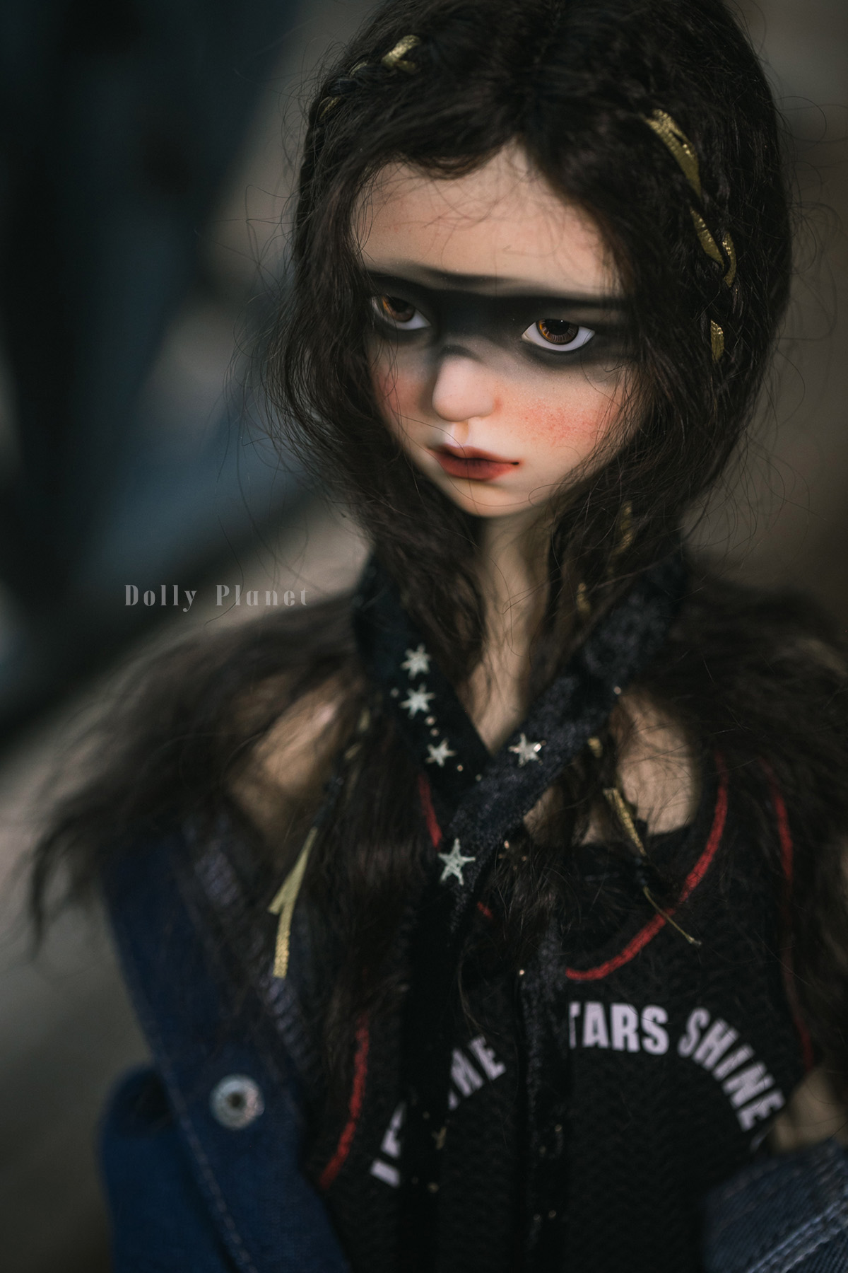 BJD Mohair Wig – Dark Brown