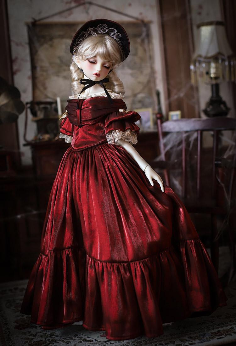 *Victoria Red Dress* BJD/SD/MSD Doll Dress  【瑜瑜酱】