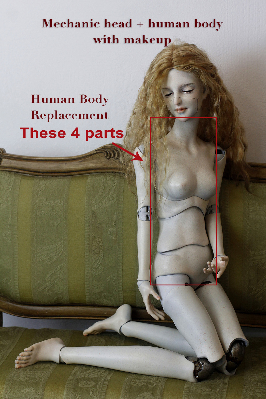 2.0 mechanic head+human body