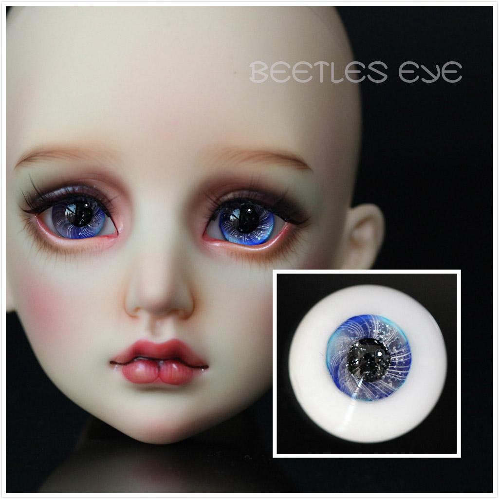 【Beetles】H-29  Glass Eyes 【Flat bottom No stem】