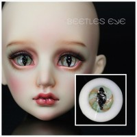 【Beetles】H-31 Beast  Glass Eyes 【Flat bottom No stem】
