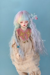【Dolly Planet】BJD heat-resistance Wig Hand dyeing *waterfall*