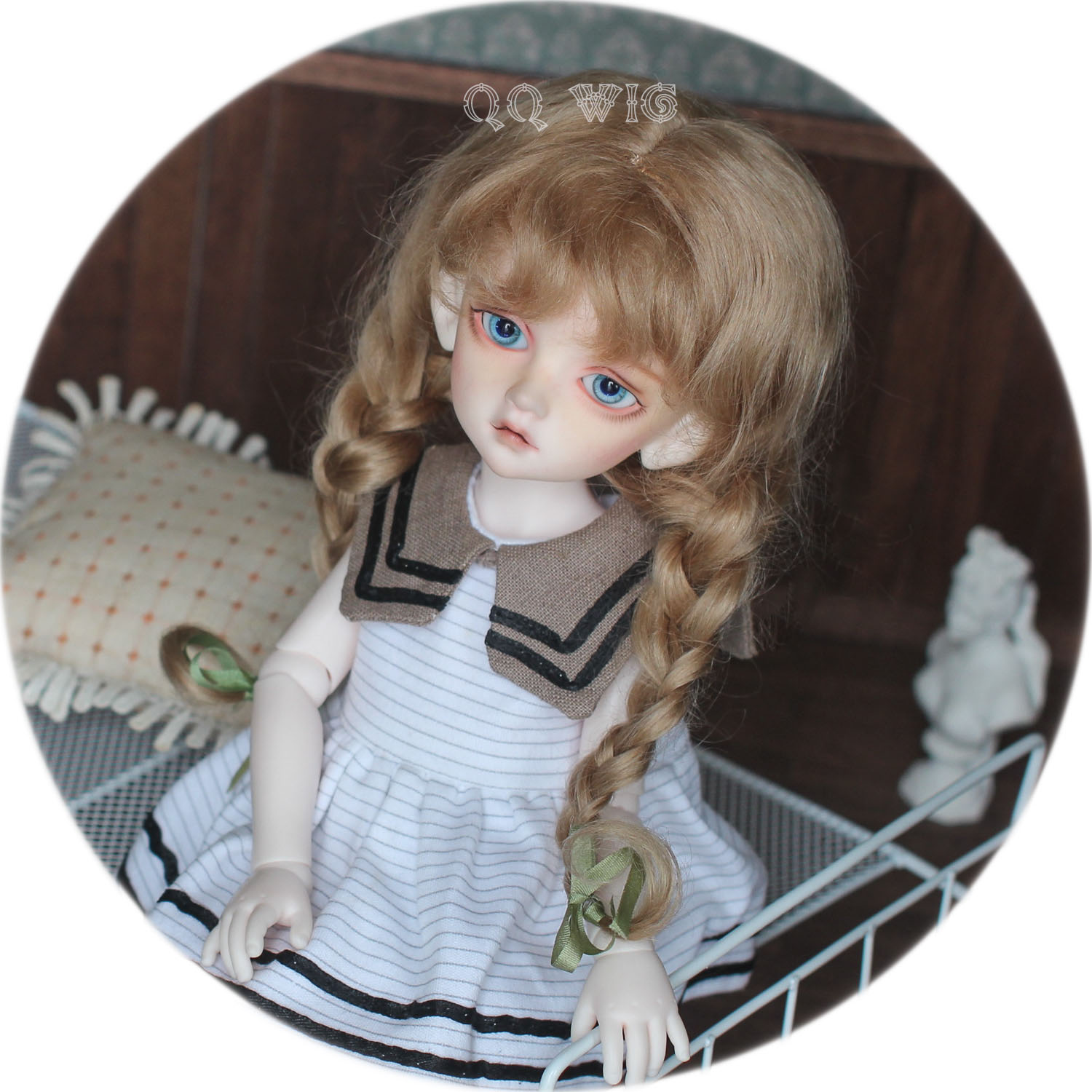 QQ-21S 【DollyPlanet】BJD Mohair Wig