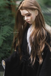 QQ-109, 1/3 Doll BJD Wigs, Black/Brown 2 Colors