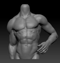 1/3 Male-Body Stand【白零 White】
