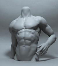 1/3 Male Body Stand-α【白零 White】