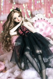 *Black Lingling* BJD/SD/MSD Doll Dress  【瑜瑜酱】