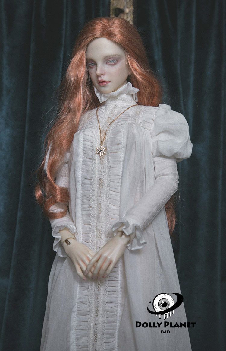 Antique BJD Doll Nightgown【METISDOLL】White/Black