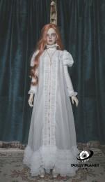 Antique BJD Doll Nightgown【METISDOLL】White/Black