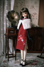 Chinese Cheogsam (QIPAO)  SD Doll outfit