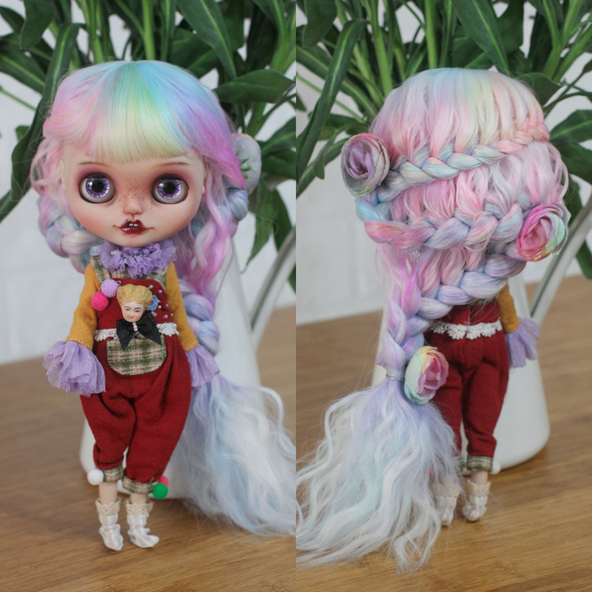 *Blossom* Ⅱ- Blythe 9-10inch Heat-resistance Wig 【Hand Dyeing】