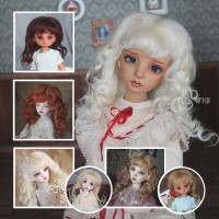 QQ-21 Cappuccino/Blond/Carrot/Chocolate/Ivory [Mohair Wig]