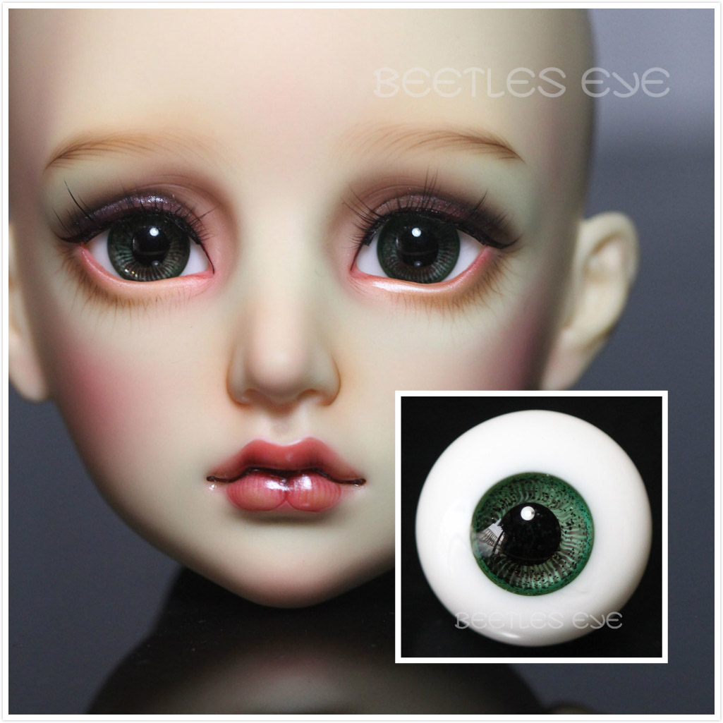 R-22  [Beetles] Glass Eyes-Forest Green