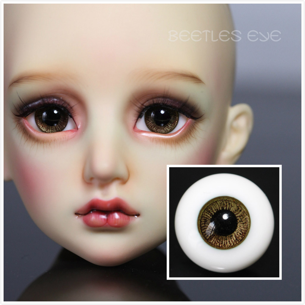 R-24 Wooden Brown -[Beetles]BJD DOLL Glass Eyes
