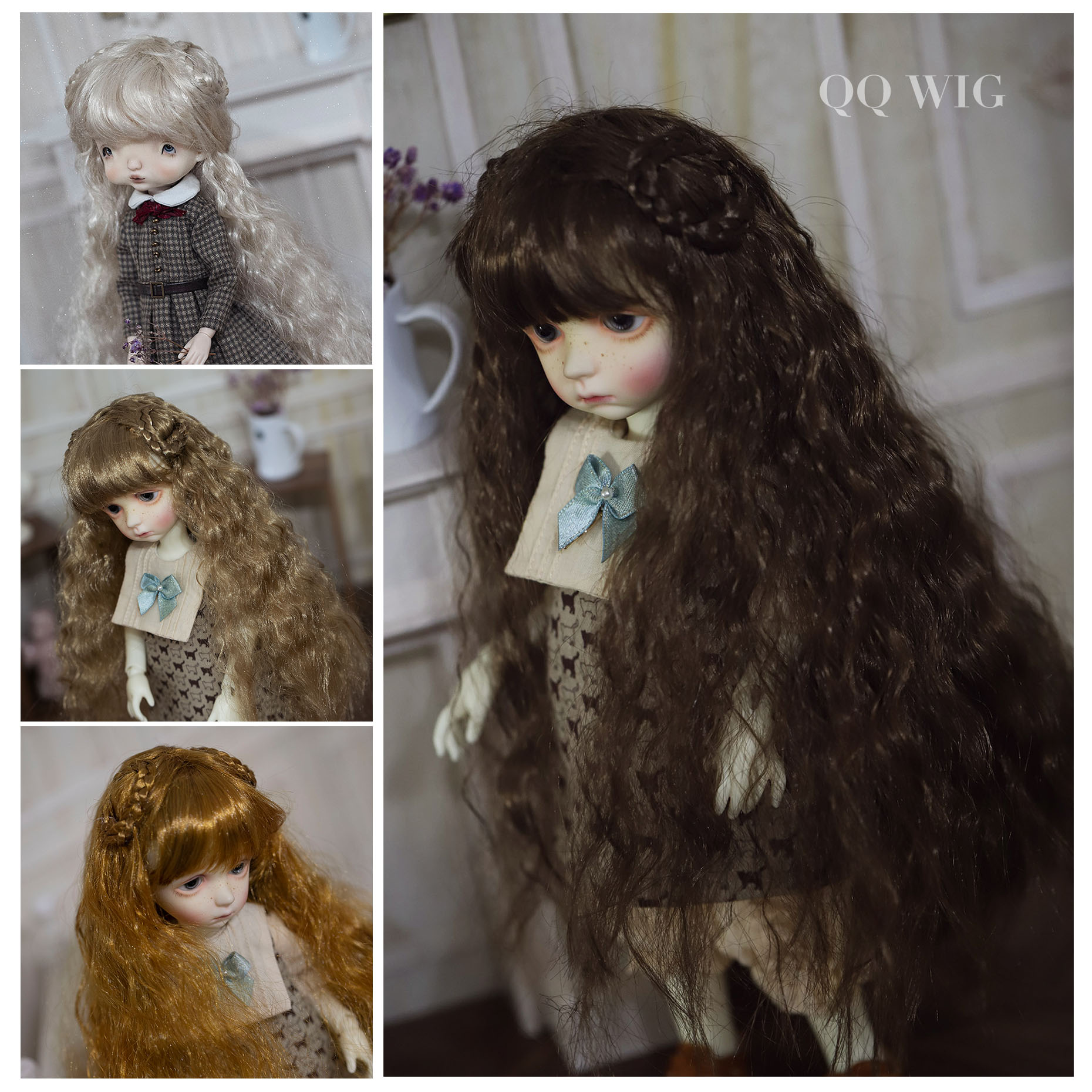QQ-94 Synthetic Mohair Wig