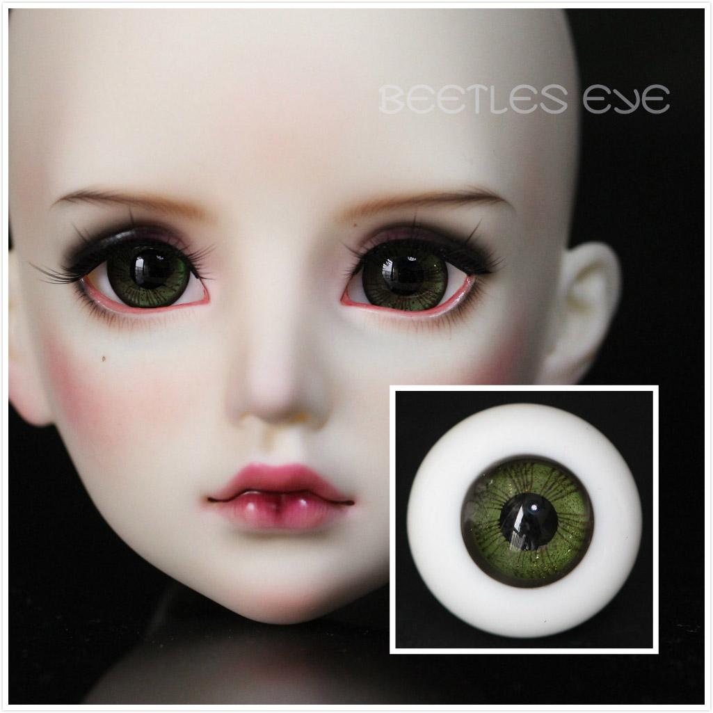 W-12 [ Moss-Green] bjd doll glass eyes